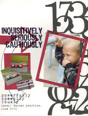 Inquisitively, Seriously, Cautiously