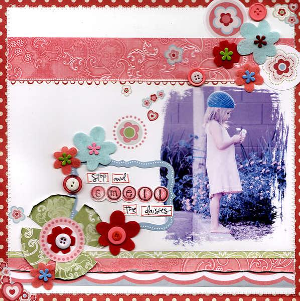 Stop and smell the daisys sassafras lass by Kimberly Garofolo