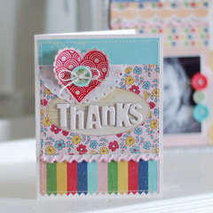Thanks Card - New Fancy Pants Childish Things collection