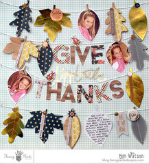 DIY Fall Garland Give Thanks Thanksgiving Leaf Layout Fancy Pants Designs