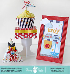 Welcome Baby table decor kit