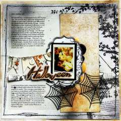 Halloween Layout by Rachel Tucker