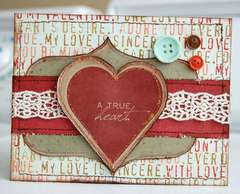 A true Heart card