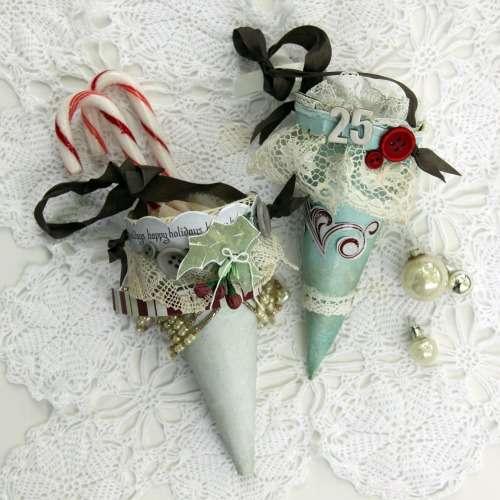 Christmas Treat Cones by Rachel Tucker