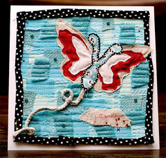 Just A Note Butterfly Card