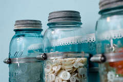 Jar Storage for Craft Room