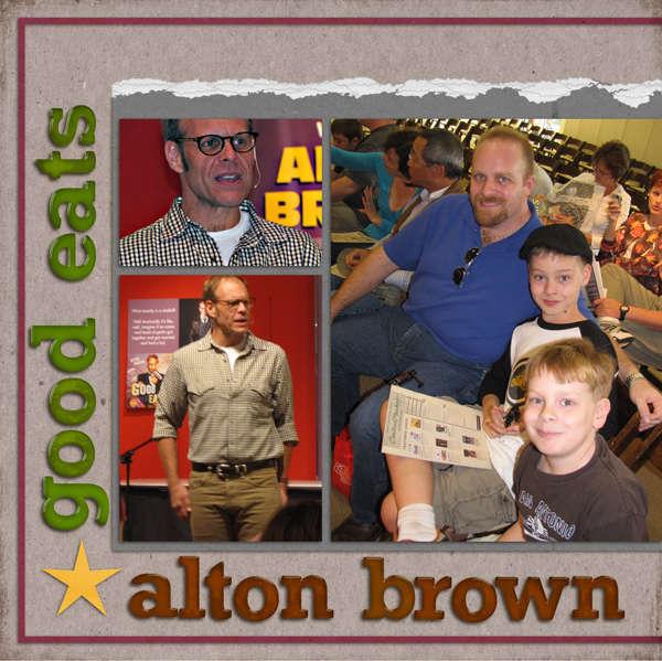 Alton Brown * Good Eats (left)
