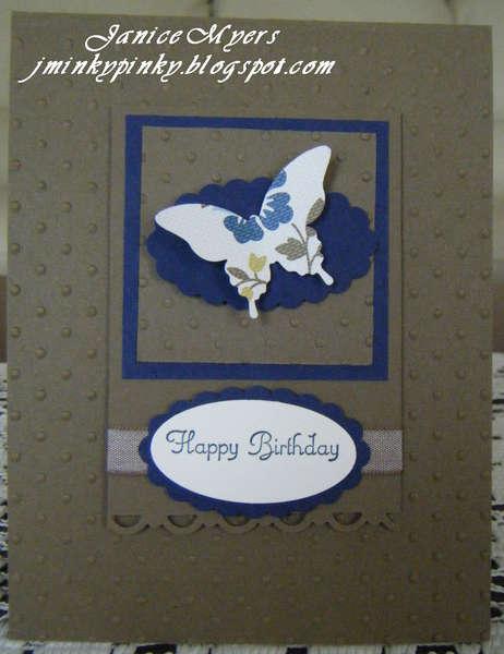 Mocha & Navy birthday card