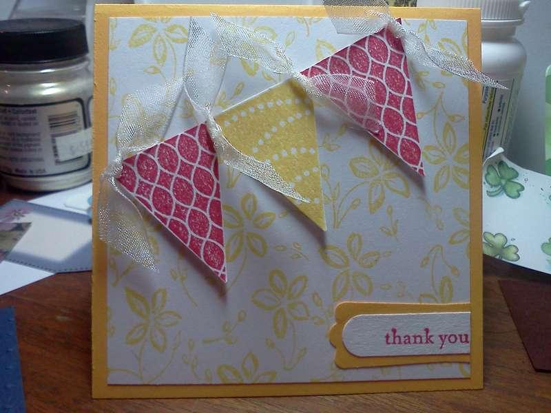 Mini thank you card