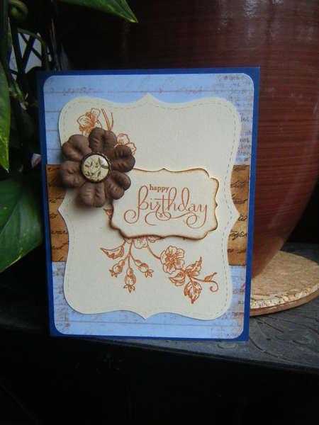 Elegant Bday card