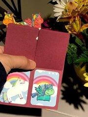 Unicorns & Rainbows Pop Up Box Card