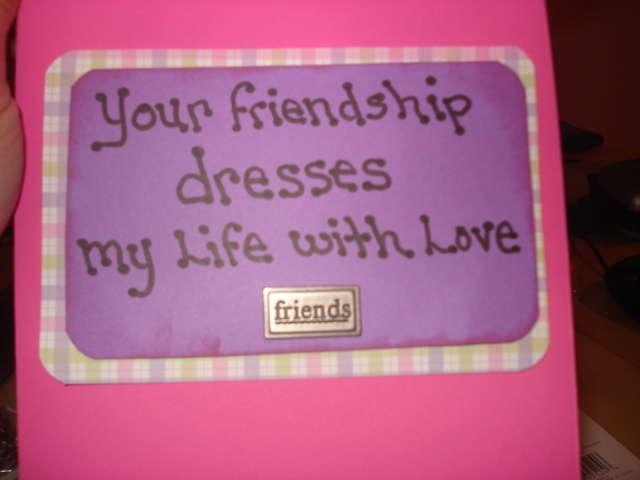 Friendship card inside