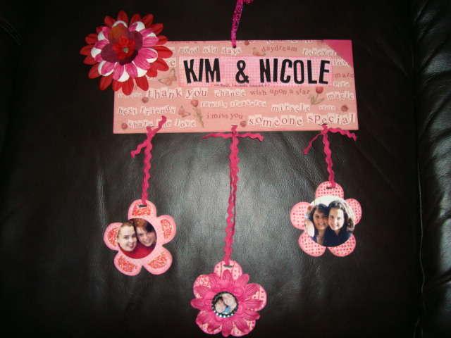 Kim & Nicole Best Friends Forever wall keepsake