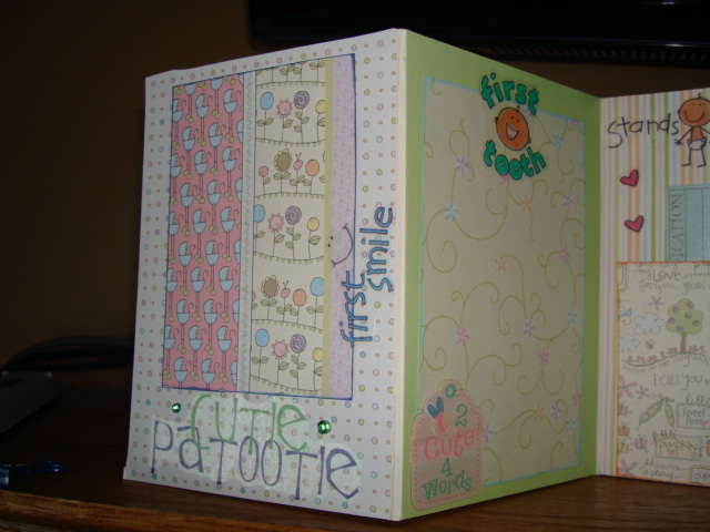 Accordian book (additional baby shower gift)