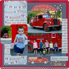 Firetruck Rides with COUSINS = Summer Memories