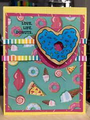 Love. Life.Donuts.  (aug card sketch challenge)