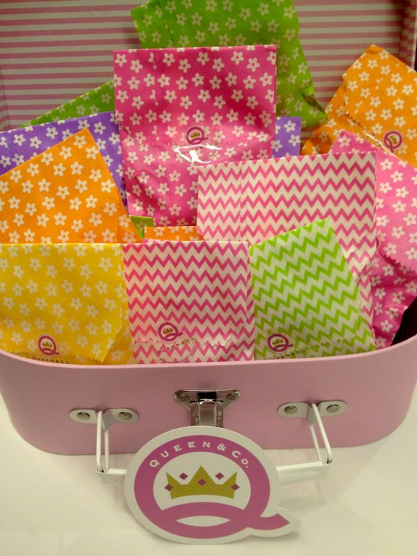 Decorative Party Bags from Queen & Co.