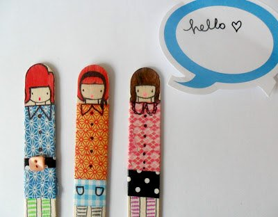 Miss Lolly Dolly Washi Tape Dollys using Queen & Co Trendy Tape