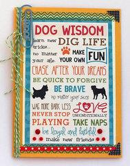Dog Wisdom card by Suzy Plantamura