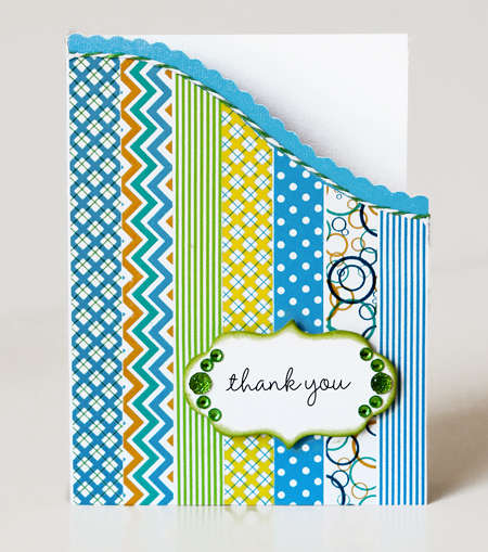 Thank You featuring Queen & Co's Splash Trendy Tape