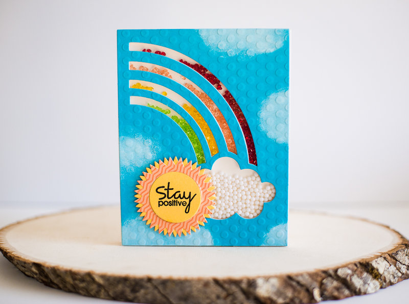 Stay Positive featuring the Rainbow Shaker Kit from Queen & Company
