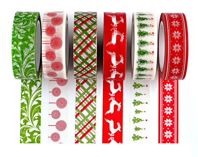New Queen and Company Christmas Trendy Tape Boxed Set, Holiday Bling Book and Holiday Epoxy Icons