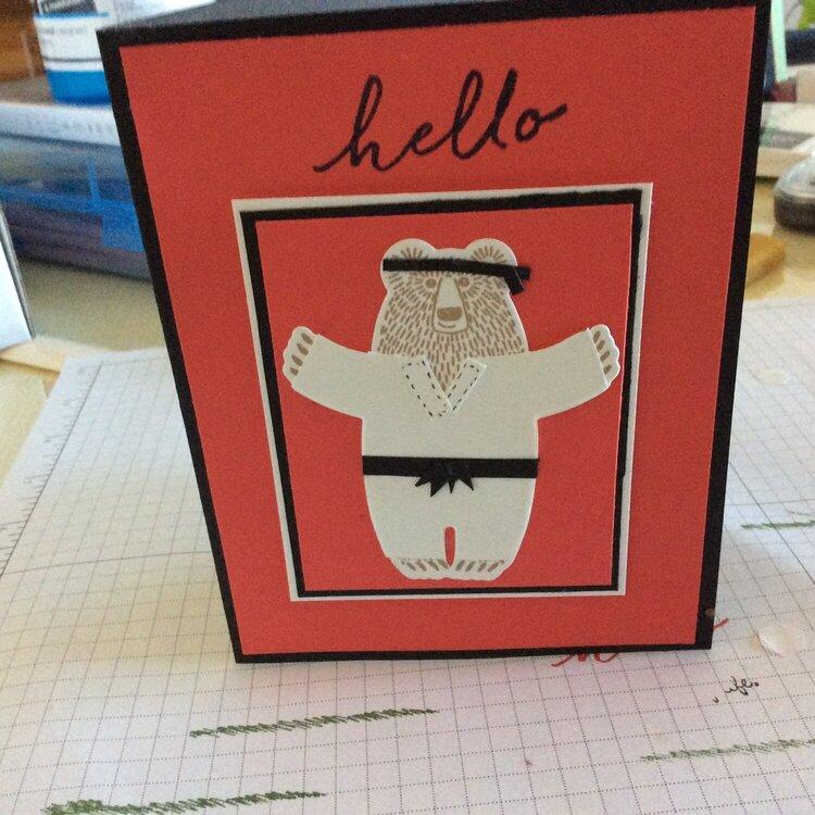 Hello Ninja Card