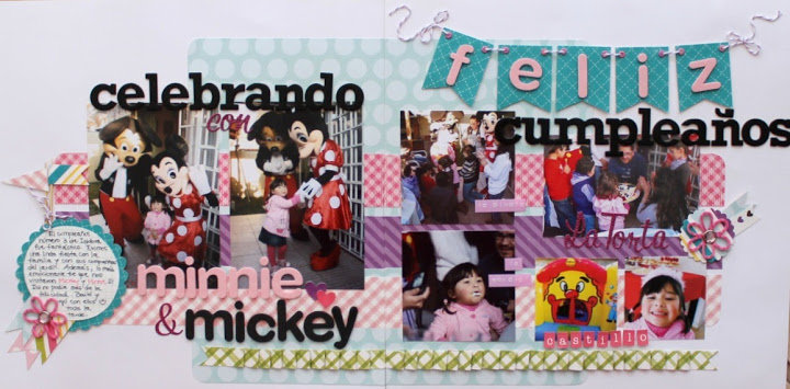 The 2 birthday layouts together!