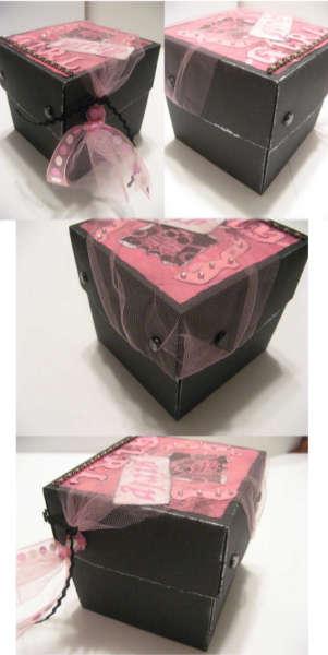 Girly Girl Exploding Box