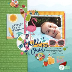 """Chill Out"" Summer Layout by Renee Zwirek"