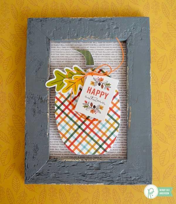 Framed Pumpkin Home Decor