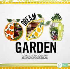Dream Garden Layout by Eva Pizarro for Pebbles Inc