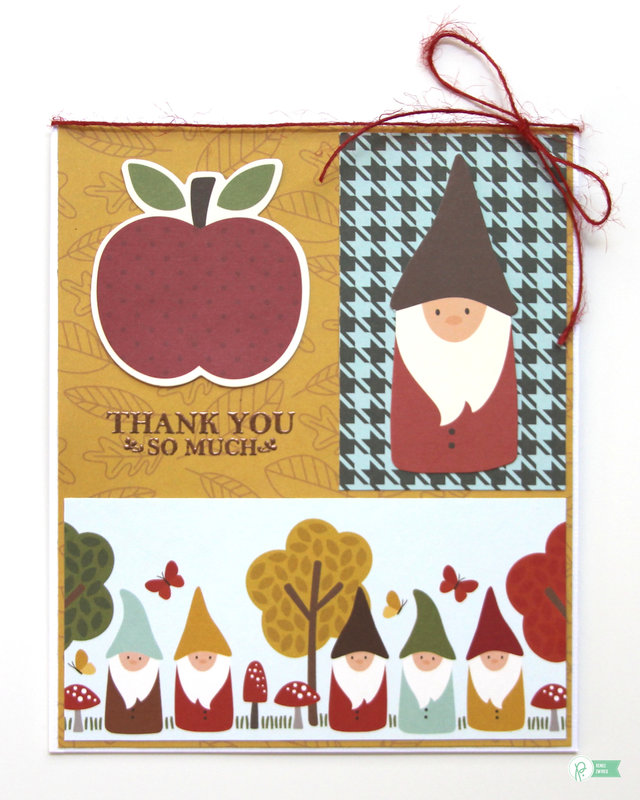 Thank You Card with Woodland Forest