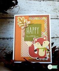 Fox Birthday Card