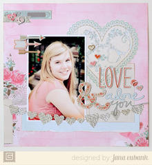 Love and Adore You by Jana Eubank featuring True Love from BasicGrey