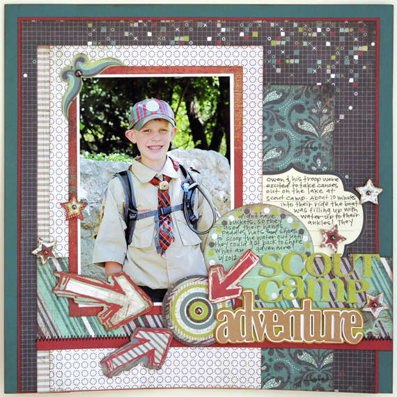 Scout Camp Adventure by Jana Eubank featuring the Oliver Collection from BasicGrey