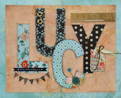 Lucy Monogram Letters featuring Lucille from BasicGrey