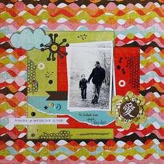 Pandre un enfant par la main by Marinette Lesne featuring Konnichiwa from BasicGrey
