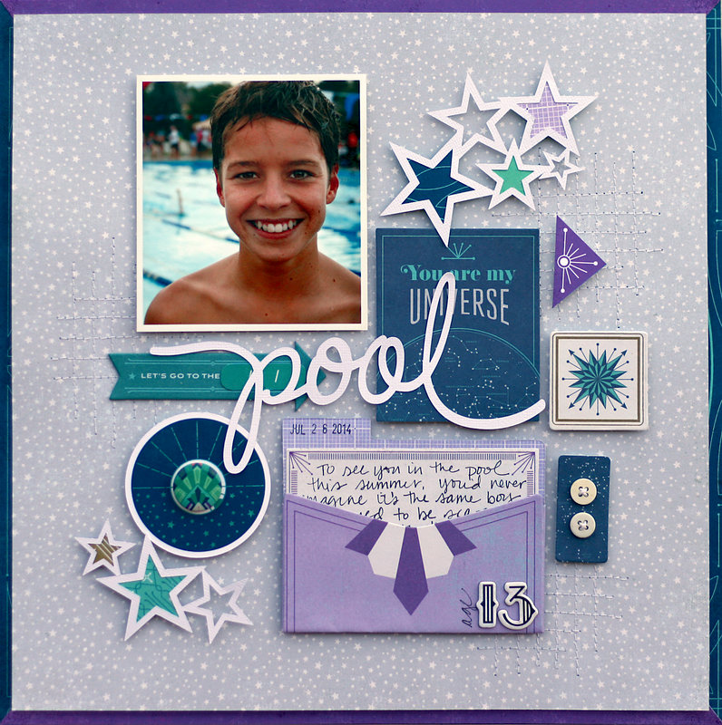 To The Pool by Lisa Dickinson featuring BasicGrey's Aurora Collection