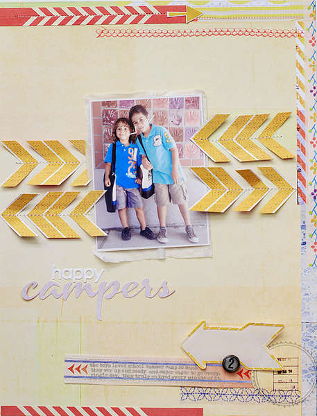 Happy Campers featuring the new Soleil Collection from BasicGrey