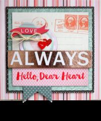 Dear Heart Valentines from BasicGrey's DT Member Shellye McDaniel