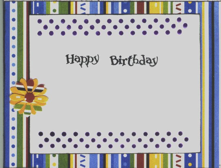 Happy Birthday inside