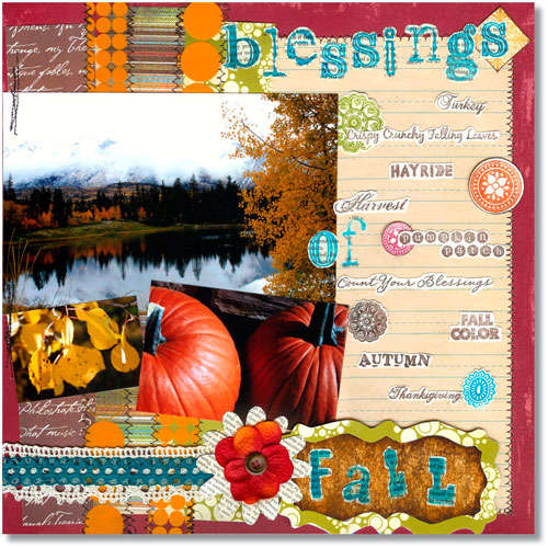 Blessings of Fall *Technique Tuesday Clear Stamps*