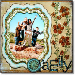 Family Time *Technique Tuesday Clear Stamps*