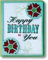 Technique Tuesday Happy Birthday Card