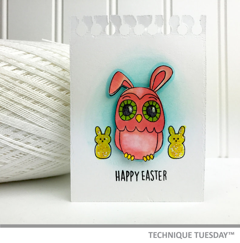 Happy Easter Bunny Owl