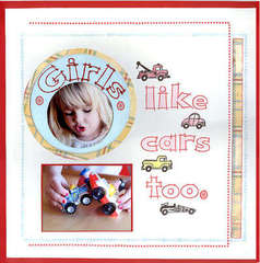 Girls Like Cars Too *technique Tuesday Clear Stamps