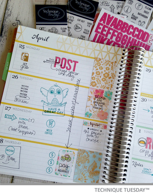 April Planner Page