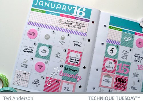 Planner Page - Technique Tuesday