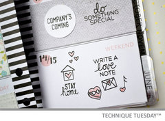 My Week Planner - Technique Tuesday